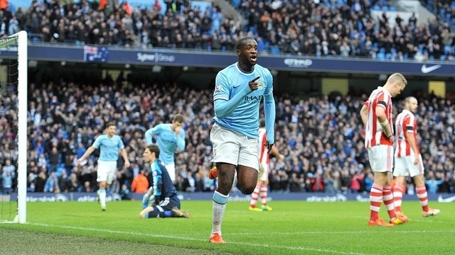 Touré celebrates the winner / PHOTO: Nicola McCarthy