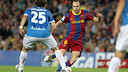 Iniesta beats Bernardello in the match played in the 10/11 season / PHOTO: MIGUEL RUÍZ – FCB