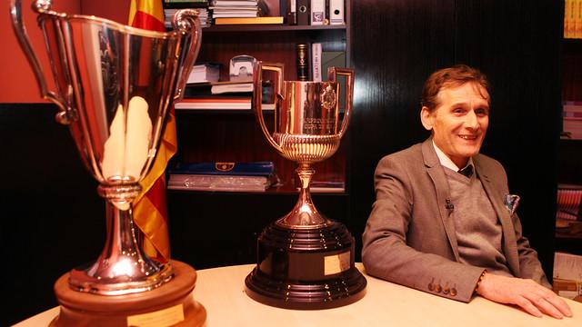 Simonsen visita el Museu del FC Barcelona / FOTO: MIGUEL RUIZ - FCB