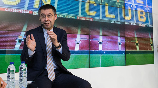 Bartomeu sad at Puyol's farewell / PHOTO: ARXIU FCB