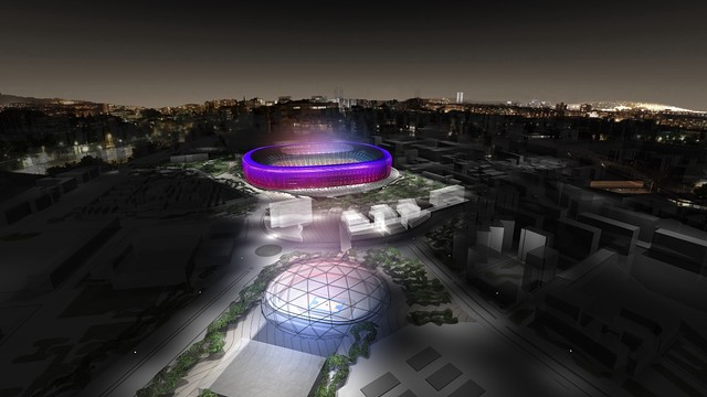 Areal view of the New Espai Barça