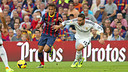 Neymar and Carvajal at the Camp Nou / PHOTO: MIGUEL RUIZ-FCB