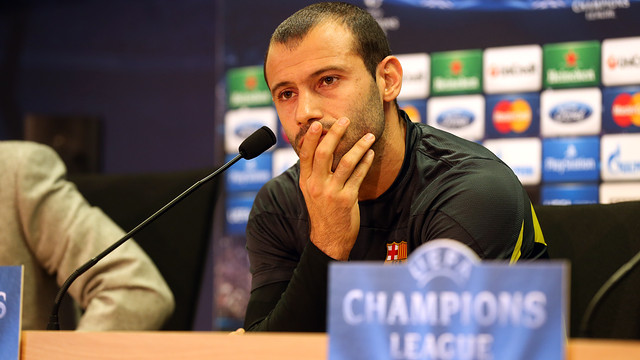 Mascherano / PHOTO: MIGUEL RUIZ-FCB