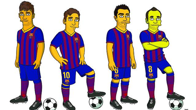 Jugadors_del_Bar_a_Simpsons_Iniesta_Mess