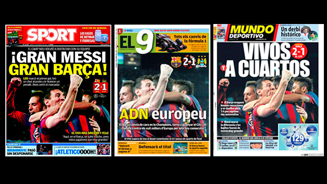Barça's win over Manchester City grabbed the headlines in the Catalan press