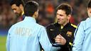 Messi and Agüero, at the Camp Nou / PHOTO: MIGUEL RUIZ - FCB