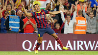 Alexis celebrates his goal against Madrid.