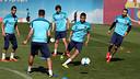 Neymar, durant l'entrenament. FOTO: MIGUEL RUIZ - FCB