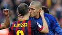Iniesta i Valdés, al Camp Nou / FOTO: MIGUEL RUIZ-FCB