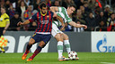 Martín Montoya in a match against Celtic / PHOTO: ARXIU FCB