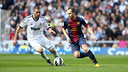 Andrés Iniesta en el partit de la temporada passada al Santiago Bernabéu / FOTO: Arxiu FCB
