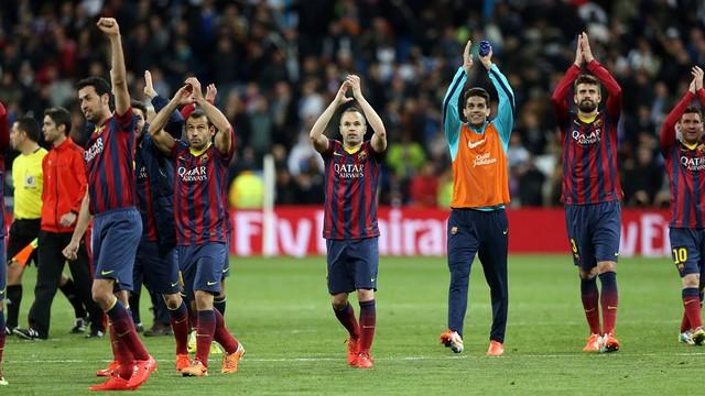 Players at Santiago Bernabéu Stadium / PHOTO: MIGUEL RUIZ - FCB