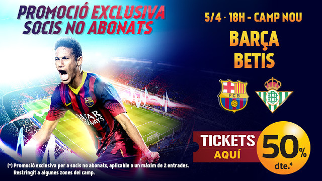 50% discount on tickets for members who do not have season tickets