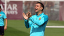 Xavi in training today / PHOTO: MIGUEL RUIZ - FCB