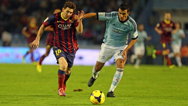 Messi featured in Barça's trip to Balaídos earlier this season / PHOTO: MIGUEL RUIZ-FCB