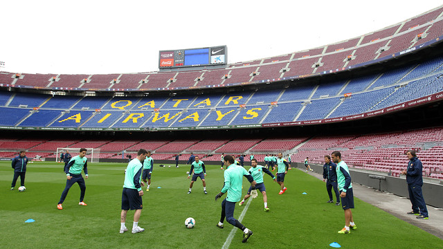 First team training session at the Camp Nou before the game against Celta /PHOTO: MIGUEL RUIZ - FCB
