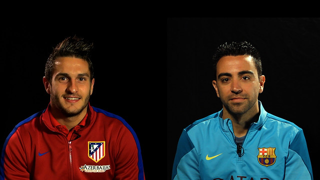 Koke and Xavi, face to face.
