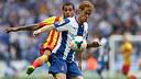 Dani Alves in the match against Espanyol at Cornellà-El Prat / PHOTO: MIGUEL RUIZ - FCB