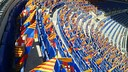 80.000 flags! Supporters at the Camp Nou tonight will find a Barça flag on their seats