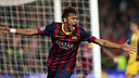 Neymar celebrates his goal. PHOTO: MIGUEL RUIZ-FCB.