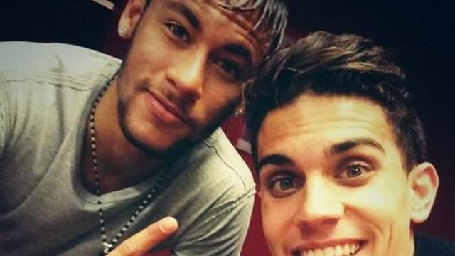 Neymar i Bartra, després del partit / FOTO: @MarcBartra91 (Twitter)