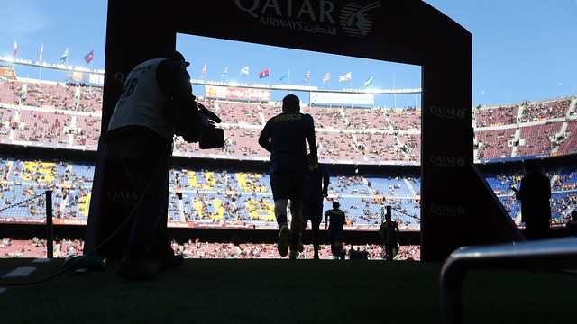 Photo before the match at the Camp Nou / PHOTO: MIGUEL RUIZ - FCB