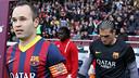 Iniesta, abans d'un partit / FOTO: MIGUEL RUIZ-FCB