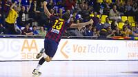 El jove blaugrana Aitor Ariño celebra un dels seus gols./FOTO:ARXIU-FCB