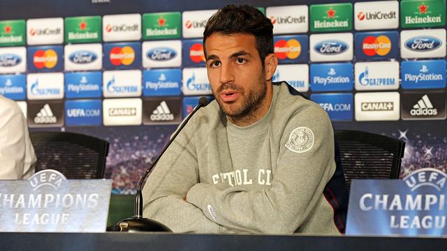 Fàbregas, durante la rueda de prensa en Madrid
