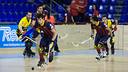 Pablo Álvarez ha decantat el partit amb quatre gols a la segona part. / FOTO: GERMÁN PARGA-FCB