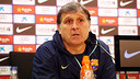Gerardo Martino spoke to the press on Friday. PHOTO: MIGUEL RUIZ- FCB