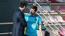 President Bartomeu chats with Leo Messi / PHOTO: GERMÁN PARGA - FCB