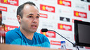 Iniesta spoke to the press ahead of the cup final. PHOTO: GERMÁN PARGA - FCB