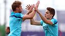 Bartra and Sergi Gómez / PHOTO: MIGUEL RUIZ - FCB