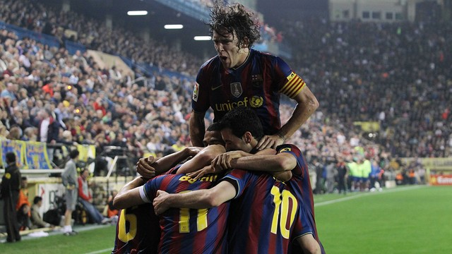 Puyol was one of the stars of the win at Villarreal in 2010 / PHOTO: MIGUEL RUIZ-FCB