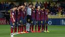 Emotional minute of silence at El Madrigal / FOTO: MIGUEL RUÍZ - FCB