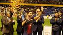 Xavi, with the catalan Cup 12/13. PHOTO: MIGUEL RUIZ-FCB.