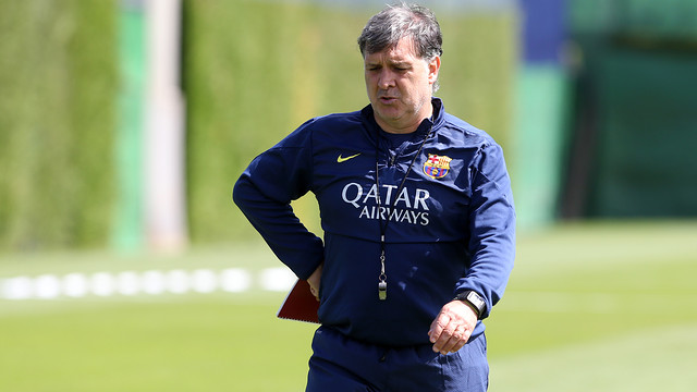 Martino was speaking after the Friday training session. PHOTO: MIGUEL RUIZ-FCB.