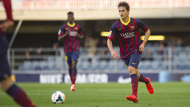 Denis Suárez on the ball at the Miniestadi