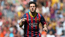 Messi celebrates his goal against Getafe / PHOTO: MIGUEL RUIZ-FCB