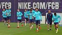 Training this morning. PHOTO: MIGUEL RUIZ-FCB.