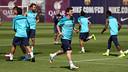 Leo Messi durant l'entrenament d'aquest divendres a la Ciutat Esportiva / FOTO: MIGUEL RUIZ - FCB