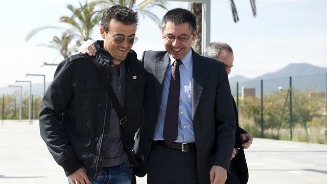 Luis Enrique and Bartomeu / PHOTO: ARCHIVE FCB