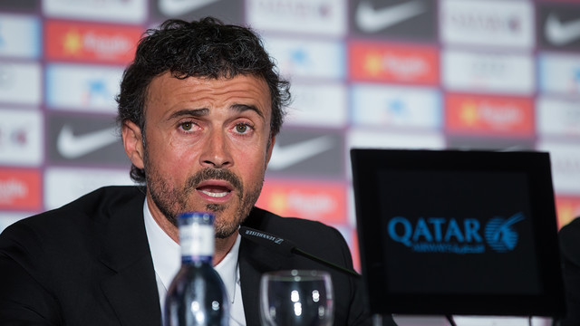 Luis Enrique this lunchtime. PH OTO: GERMÁN PARGA - FCB