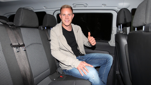 Ter Stegen's flight has landed in Barcelona. PHOTO: MIGUEL RUIZ-FCB.