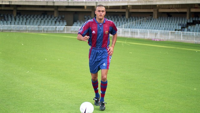 Luis Enrique, el dia de la seva presentació, el 23 de juliol de 1996 / FOTO: ARXIU FCB