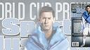 Leo Messi berpose untuk majalah Sport Illustrated