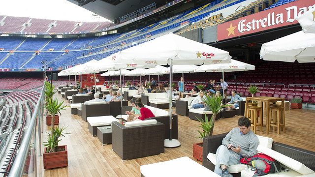 Imatge del Camp Nou Lounge d'aquest divendres. FOTO: V. SALGADO -FCB