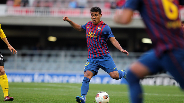 Rafinha with Barça B / PHOTO: ARXIU FCB