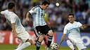 Messi face à la Slovénie / PHOTO: FIFA.COM